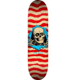 POPWAR Powell Peralta Ripper Skateboard Deck Nat/Red - Shape 244 - 8.5 x 32.08