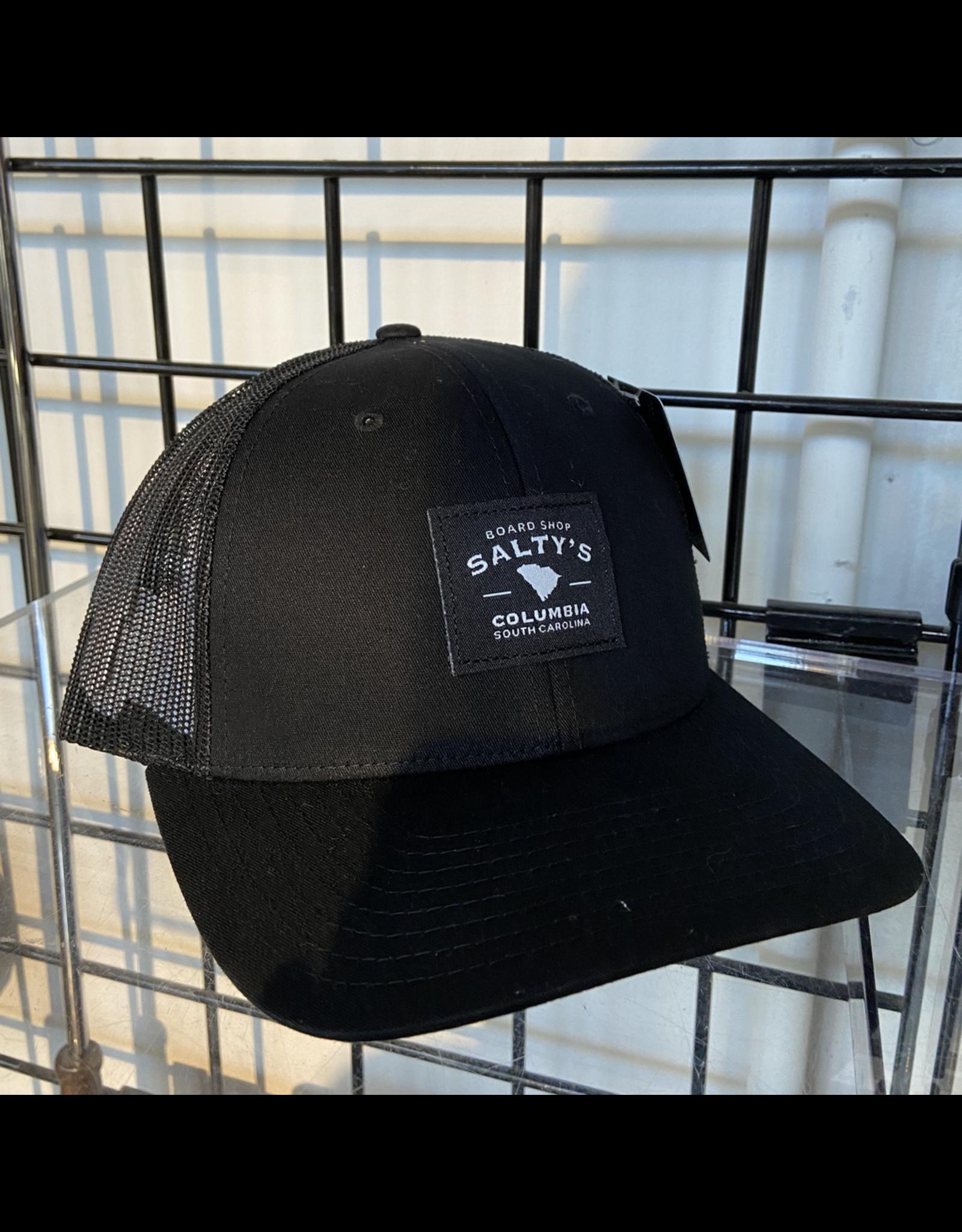 RICHARDSON 115 SOLID BLACK SALTY'S TRUCKER HAT