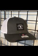 RICHARDSON 115 SPLIT CHARCOAL/WHITE SALTYS TRUCKER HAT