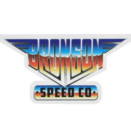 "BRONSON SPEED CO. BRONSON HEAVY METAL VINYL DECAL 2.25x4.5"""