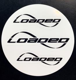 LOADED LOADED TRIPLE LOGO STICKERS (BLACK)