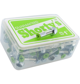 """SHORTY'S SHORTY'S 1"""" GREEN PHILIPS HARDWARE (SET OF 8)"""