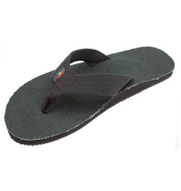 Rainbow Sandals MENS RAINBOW HEMP TOP SOLE AND STRAP BLACK