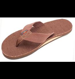 Rainbow Sandals MENS RAINBOW HEMP TOP SOLE AND STRAP BROWN