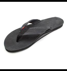 Rainbow Sandals LADIES PREMIER LEATHER SINGLE LAYER BLACK