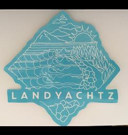 LANDYACHTZ LANDYACHTZ MOUNTAINS TO THE SEA STICKER, BLUE