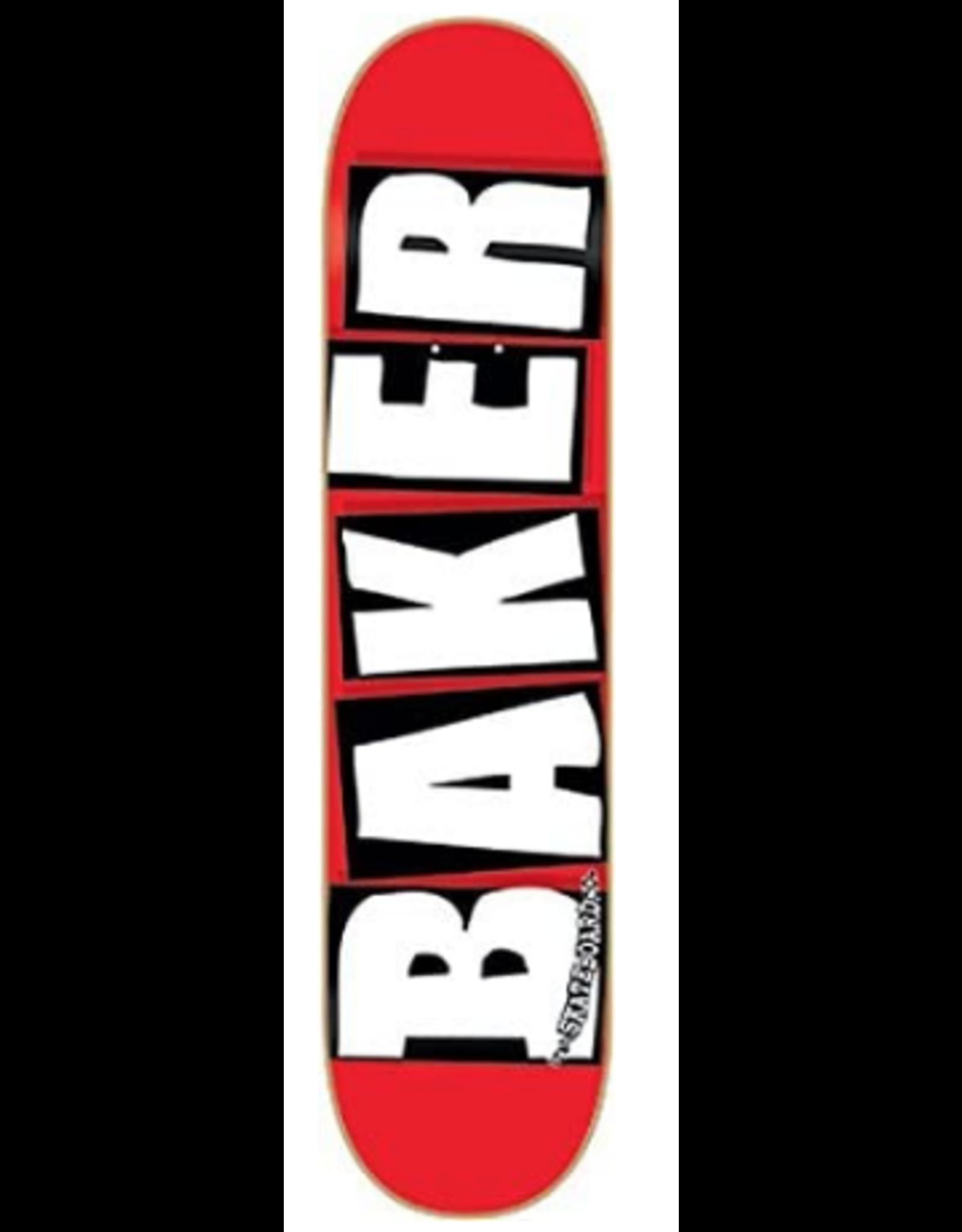BAKER BAKER BRAND LOGO DECK-8.25 RED/WHITE