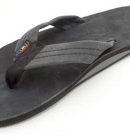 Rainbow Sandals MENS RAINBOW PREMIER LEATHER SINGLE LAYER BLACK