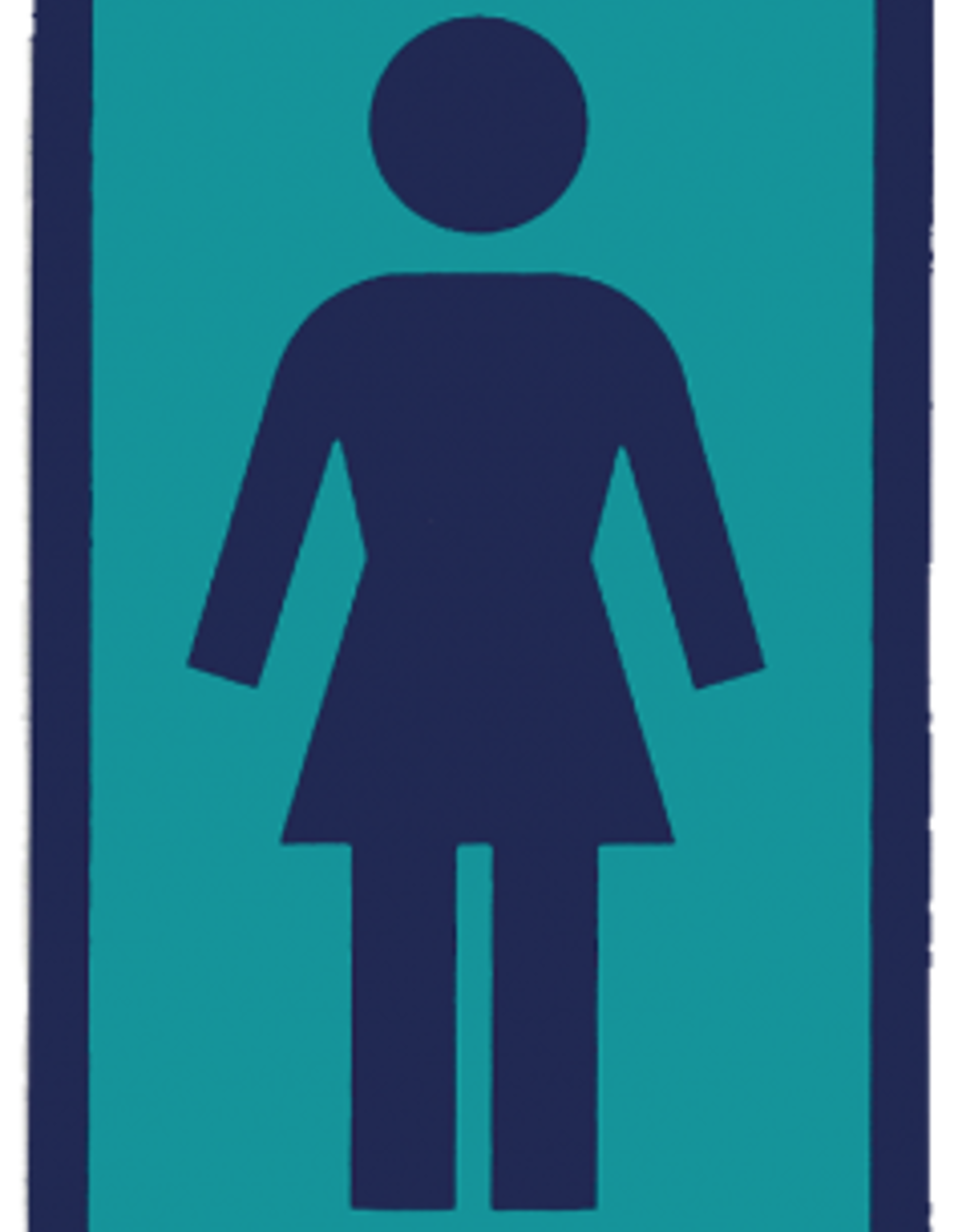 GIRL GIRL SKATEBOARD COMPANY STICKER ASSORTED COLORS
