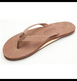 Rainbow Sandals LADIES PREMIER LEATHER NARROW STRAP DARK BROWN
