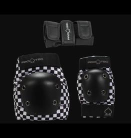 PRO-TEC PROTEC JUNIOR STREET GEAR 3 PACK - BLACK CHECKER