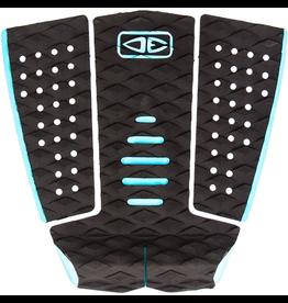 Ocean & Earth Tyler Wright Signature Black / Aqua Surfboard Traction Pad - 3 Piece