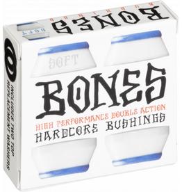 BONES BONES HARDCORE 4PC SOFT WHITE/BLUE BUSHINGS