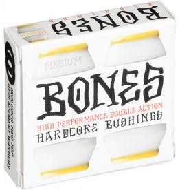 BONES BONES HARDCORE 4PC MED WHITE/YELLOW BUSHINGS