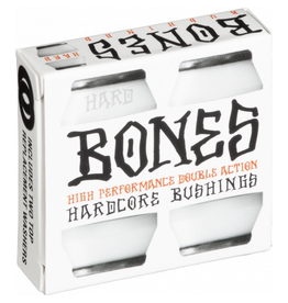 BONES BONES HARDCORE 4PC HARD WHITE/BLACK BUSHINGS