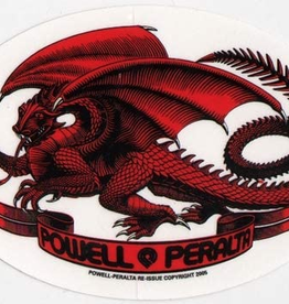 POWELL POWELL PERALTA RED OVAL DRAGON STICKER