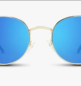 NECTAR NECTAR SUNGLASSES BOHO/GREENWICH GOLD METAL FRAME - BLUE LENS