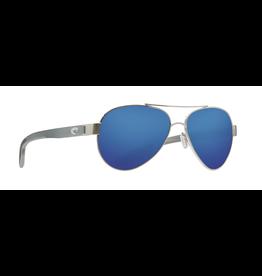 COSTA DEL MAR LORETO 278OC OCEARCH SILVER W/ GRAY BLUE MIRROR 58
