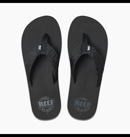 REEF REEF SMOOTHY BLACK FLIP FLOPS MENS
