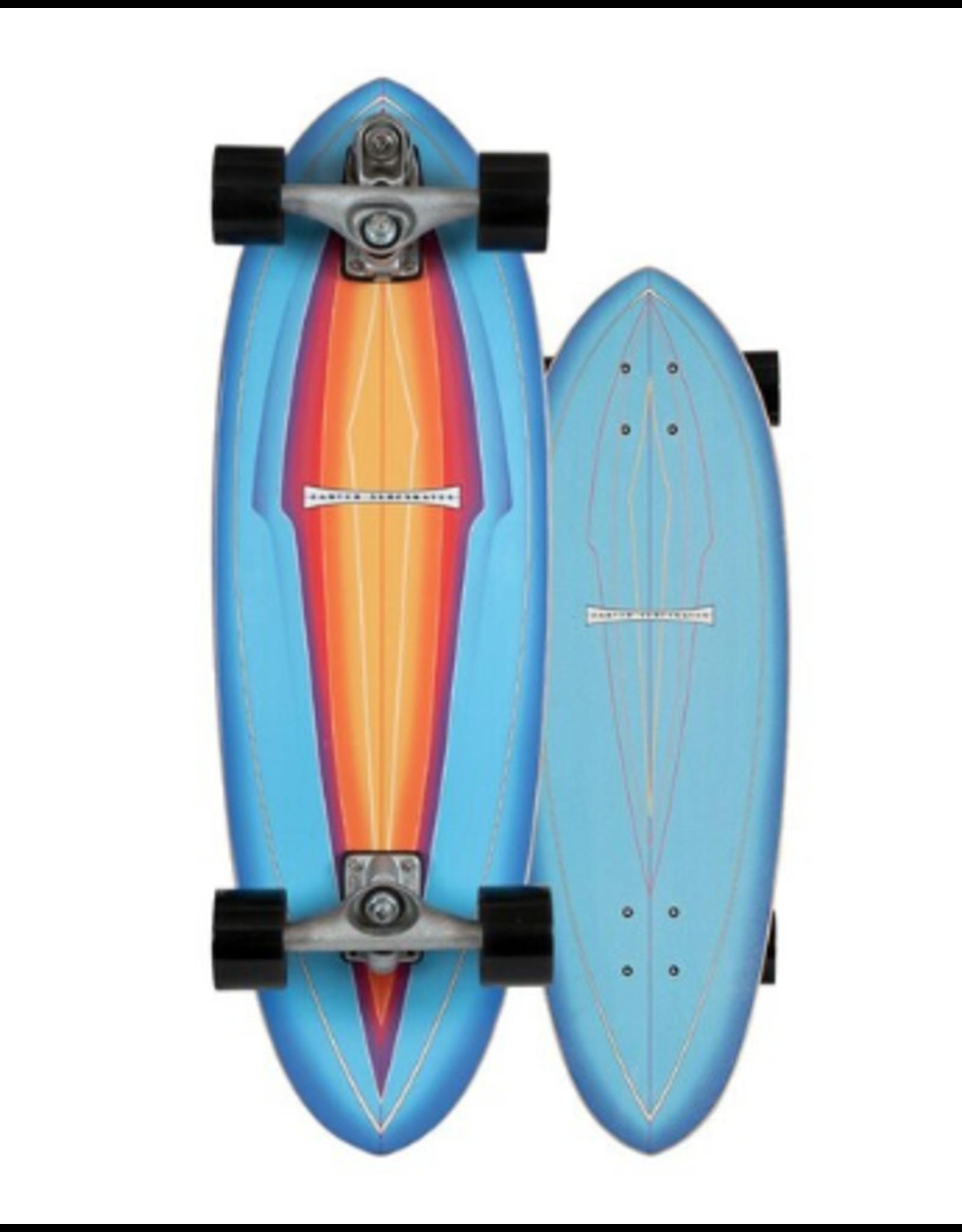 """CARVER CARVER 31"""" BLUE HAZE SURFSKATE 2020 COMPLETE C7"""