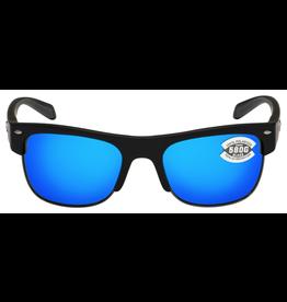 COSTA DEL MAR COSTAS PAWLEYS 11 MATTE BLACK/BLUE MIRROR 580G