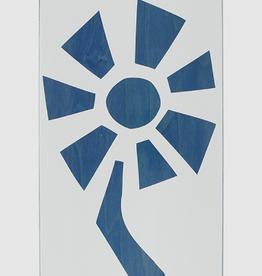 Black Label BLACK LABEL BLL FLOWER POWER DECK-8.5 WHITE/BLUE VENEER