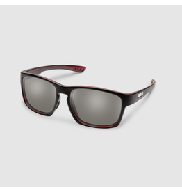 SunCloud FAIRFIELD BURNISHED RED POLARIZED GRAY