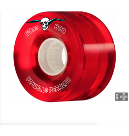 POWELL PERALTA Powell Peralta Clear Cruiser Skateboard Wheels Red 63mm 80A 4pk