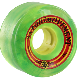 SATORI SATORI GOO BALL RASTA 62mm 78a CLEAR GREEN