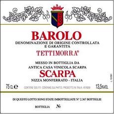 """Italy 2001 Scarpa Barolo """"Tettimorra"""""""