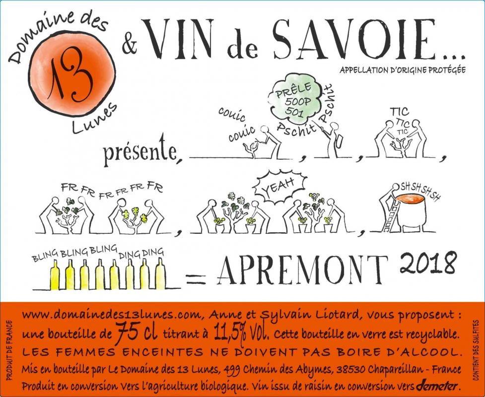 France 2020 Domaine des 13 Lunes Savoie Apremont