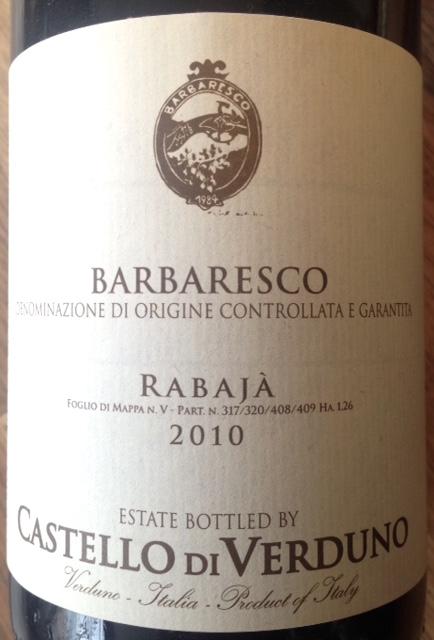 Italy 2016 Castello di Verduno Barbaresco Rabajà