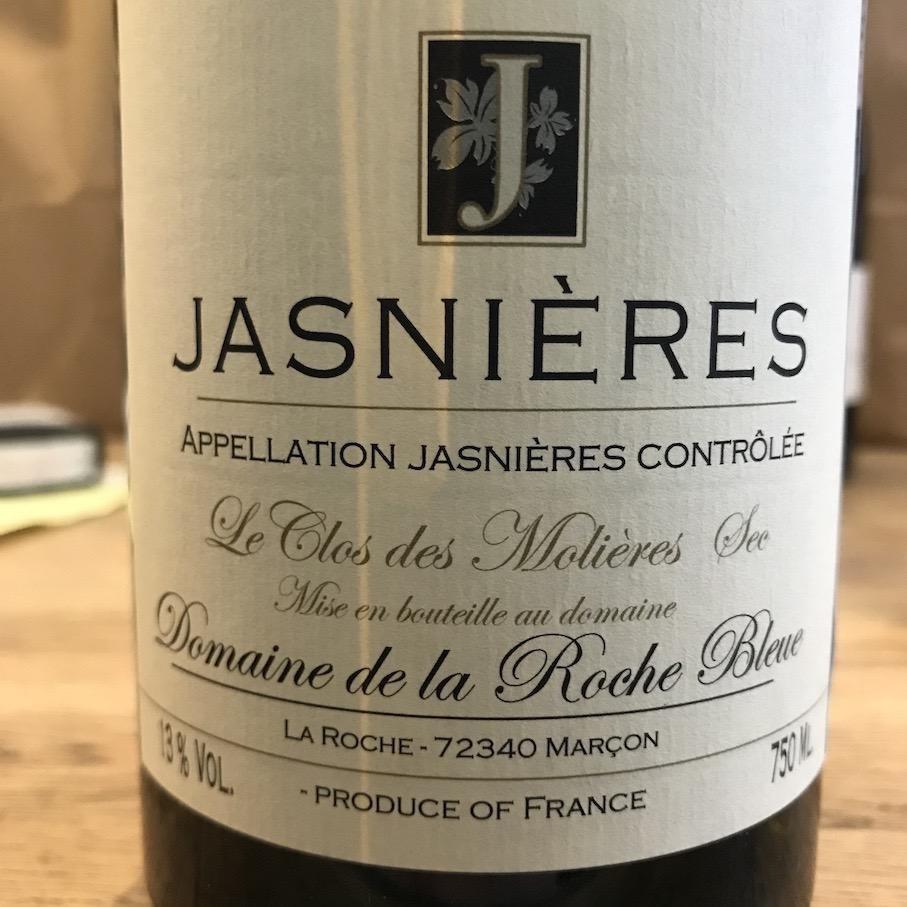 """France 2015 Domaine de la Roche Bleue """"Le Clos des Molieres"""" Jasnieres"""
