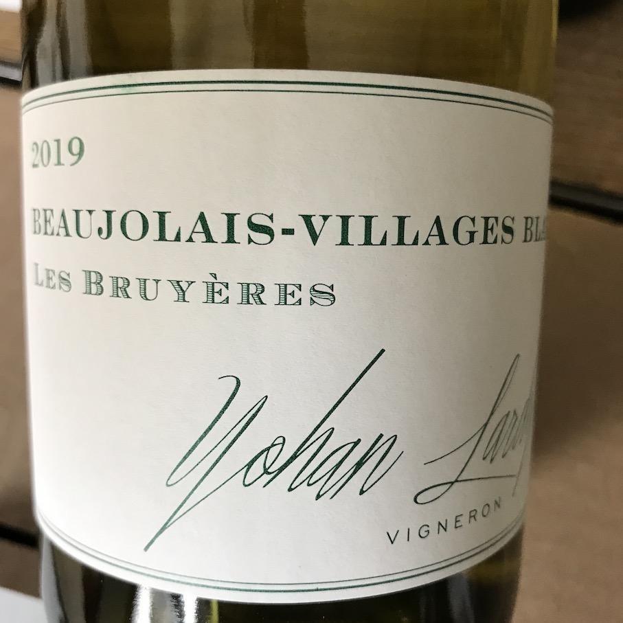 "France 2019 Yohan Lardy Beaujolais Villages Blanc ""Les Bruyeres"""