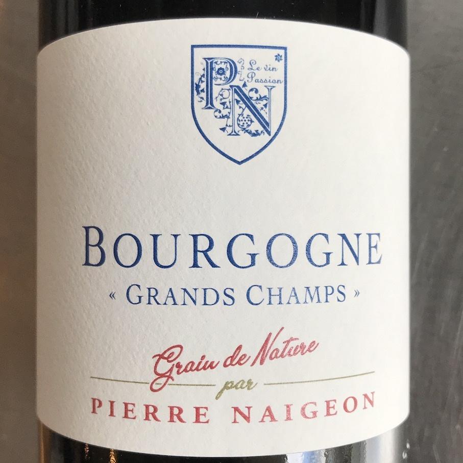 """France 2018 Pierre Naigeon Bourgogne Rouge """"Grand Champs - Grain de Nature"""""""""""