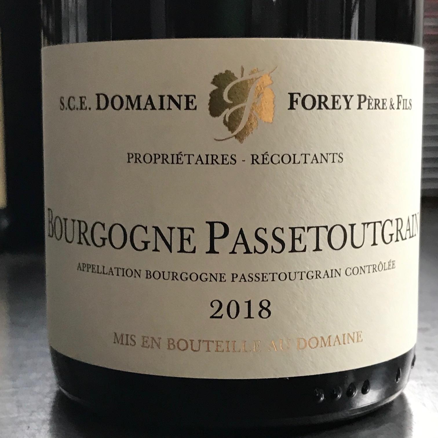 France 2018 Forey Bourgogne Passetoutgrain
