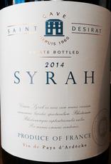 France 2019 Cave Saint Desirat Syrah Vin de Pays d'Ardeche