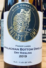 "USA 2019 Thirsty Owl ""Appalachian Bottom Dweller"" Dry Riesling Finger Lakes"