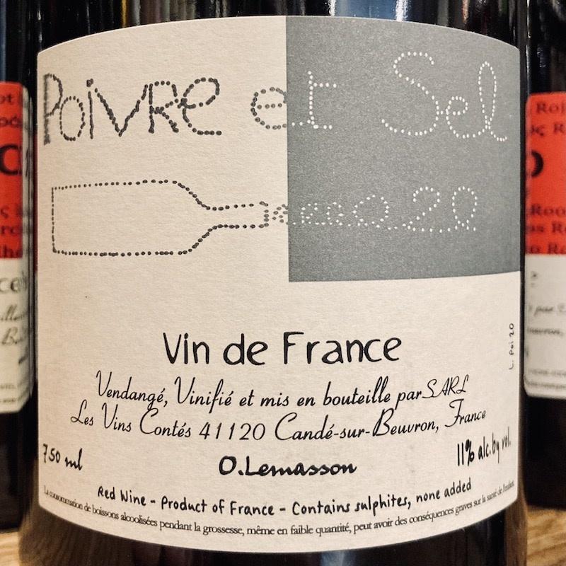 """France 2020 Les Vins Contes """"Poivre et Sel"""""""
