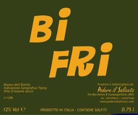 """Italy Poderi Il Saliceto Bianco dell'Emilia """"Bi Fri"""""""