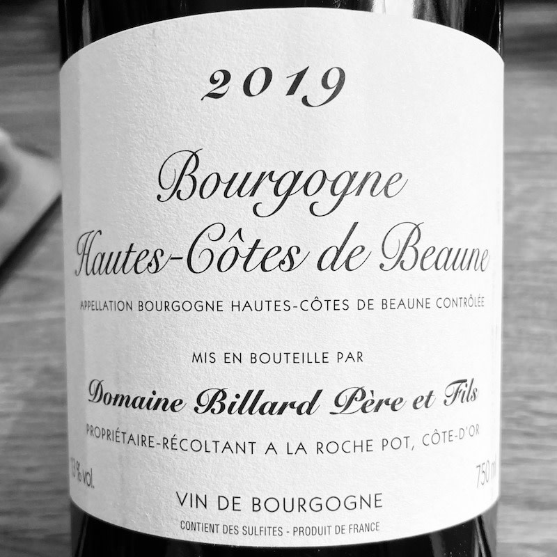 France 2019 Billard Hautes Cotes de Beaune