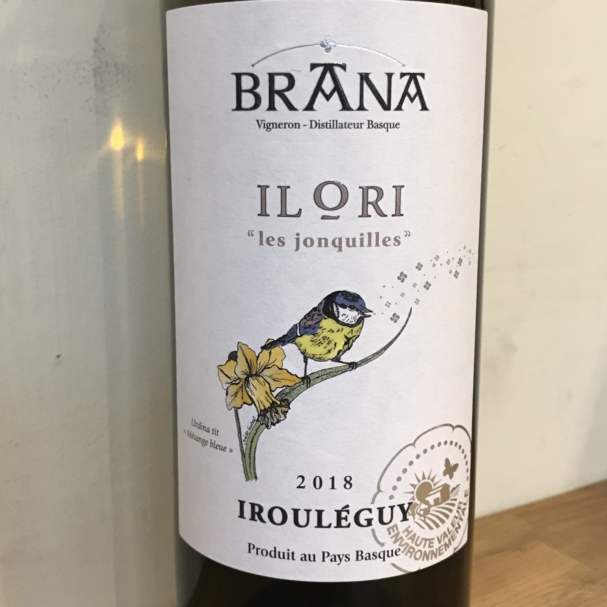 France 2018 Domaine Brana Ilori Irouleguy Blanc