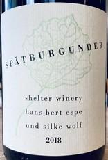 Germany 2018 Shelter Winery Spatburgunder
