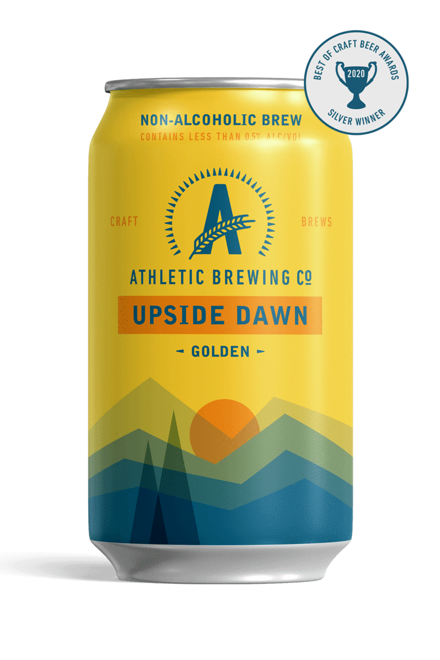USA Athletic Brewing Upside Dawn Golden Ale 12pk