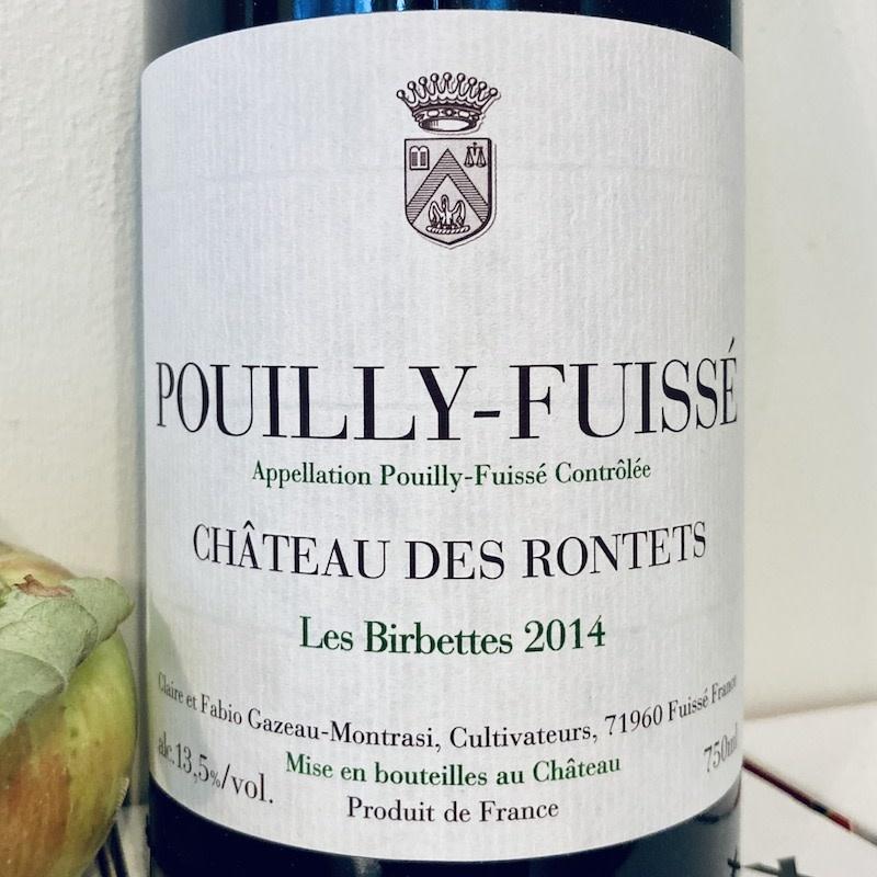 """France 2014 Chateau des Rontets Pouilly-Fuisse """"Les Birbettes"""""""
