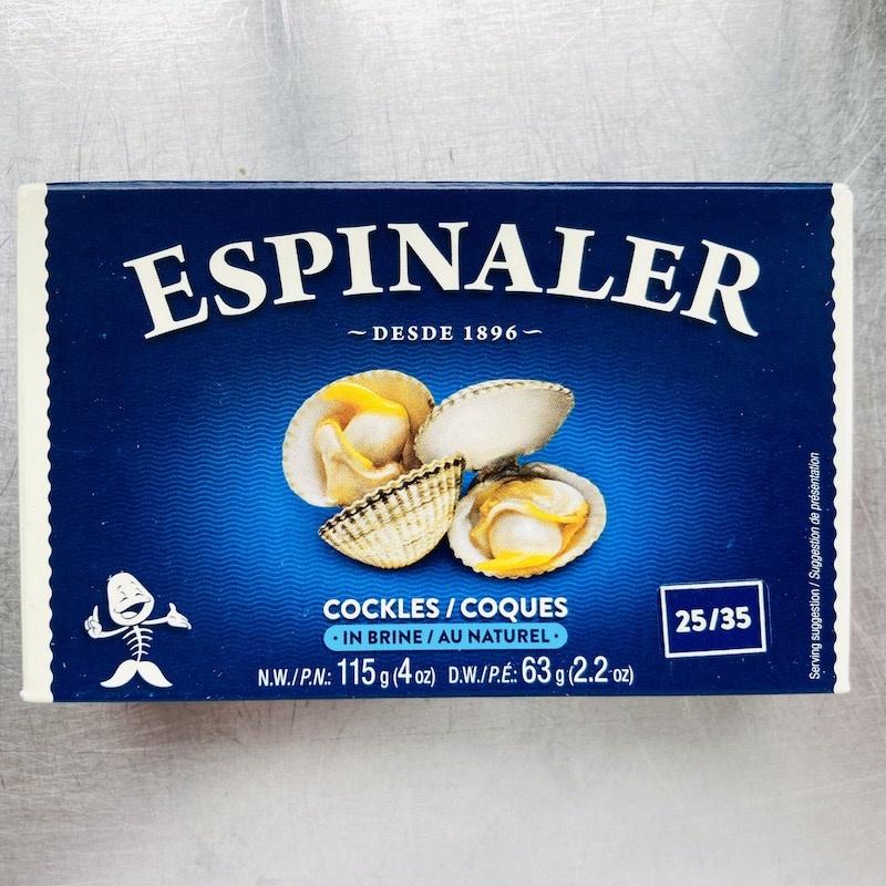 Spain Espinaler Cockles in Brine 25-35pc 120g