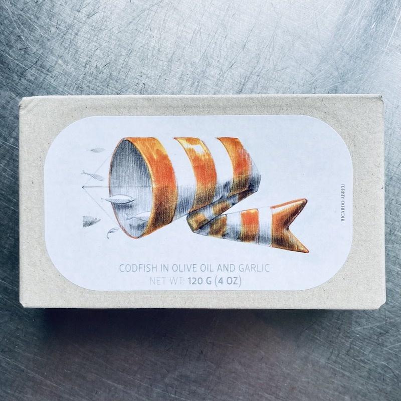 Portugal Jose Gourmet Codfish in Olive Oil & Garlic 120g