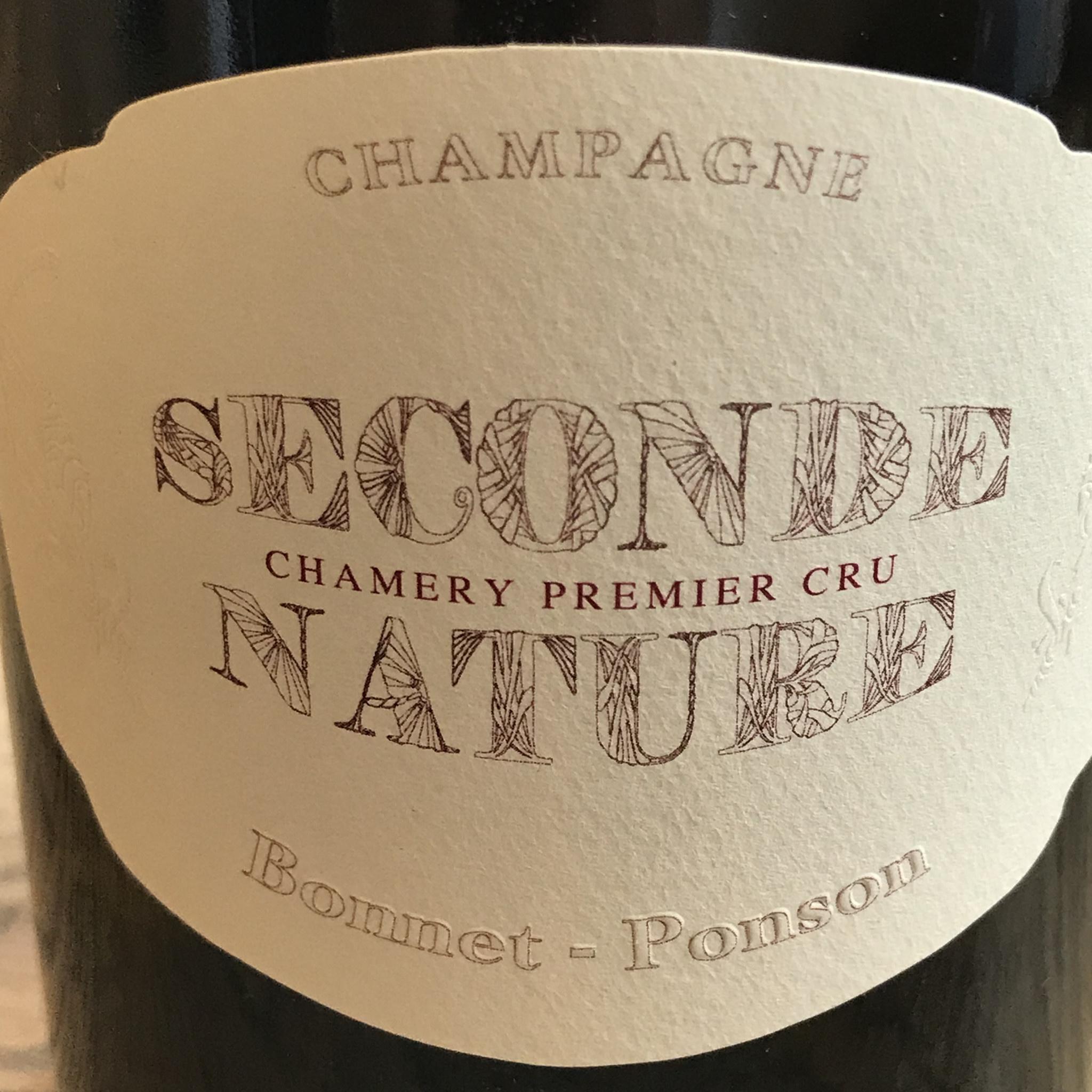 """France NV Bonnet-Ponson """"Seconde Nature"""" Champagne Chamery 1er Cru"""