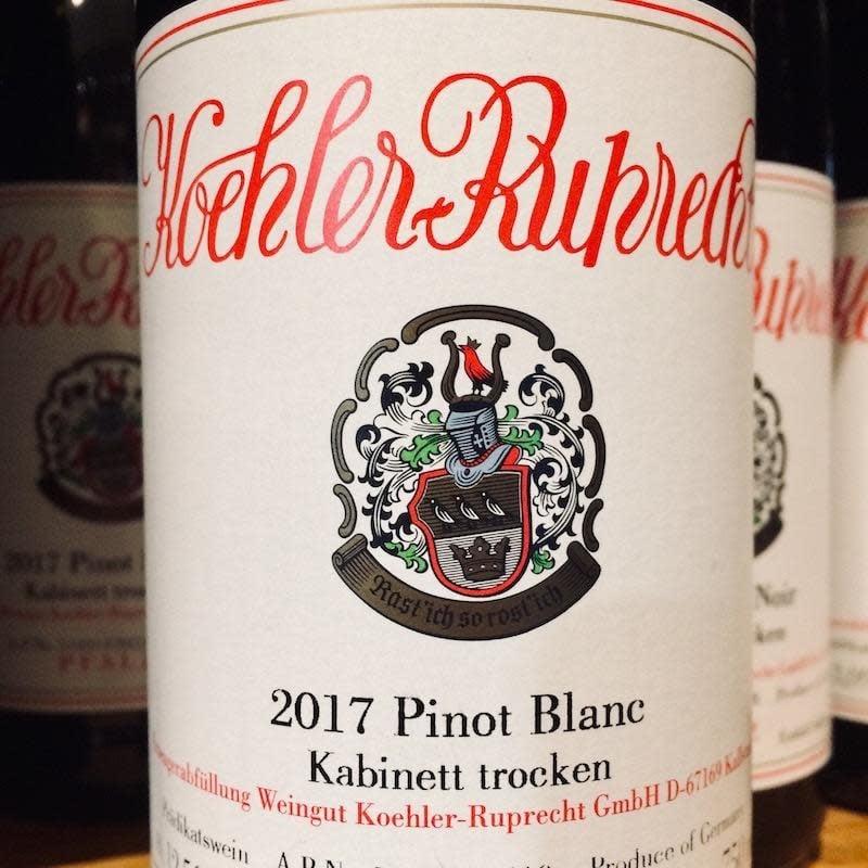 Germany 2019 Koehler-Ruprecht Pinot Blanc Kabinett trocken Pfalz