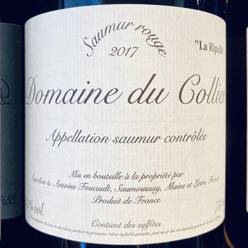 """France 2017 Domaine du Collier Saumur """"La Ripaille"""""""